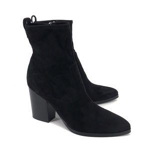 NEW Marc Fisher Avalyn Block Heel Sock Booties